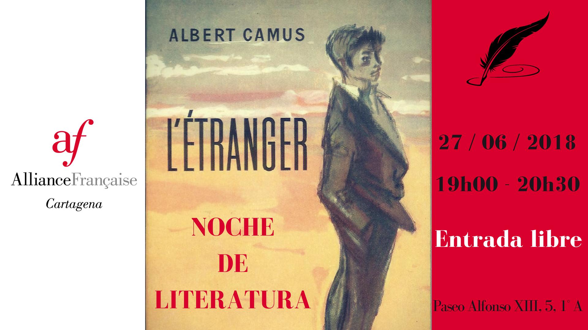 Noche de Literatura L'étranger de Camus 6