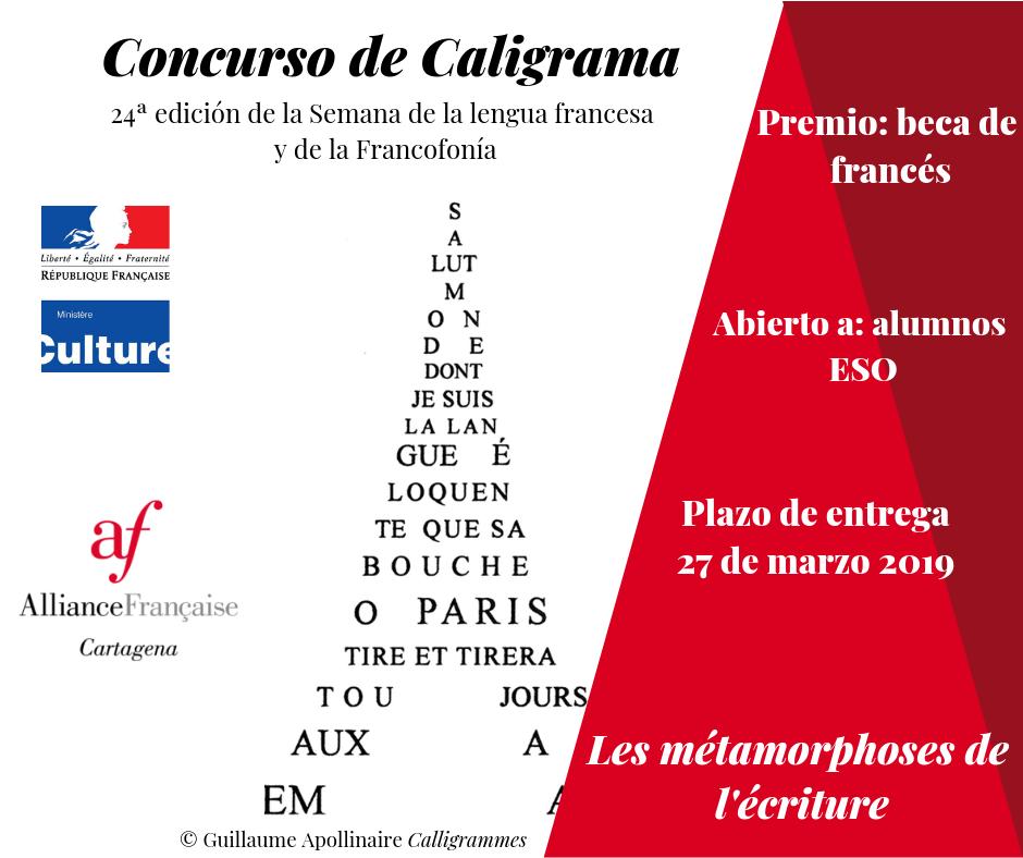Concurso de Caligramas en Francés 6