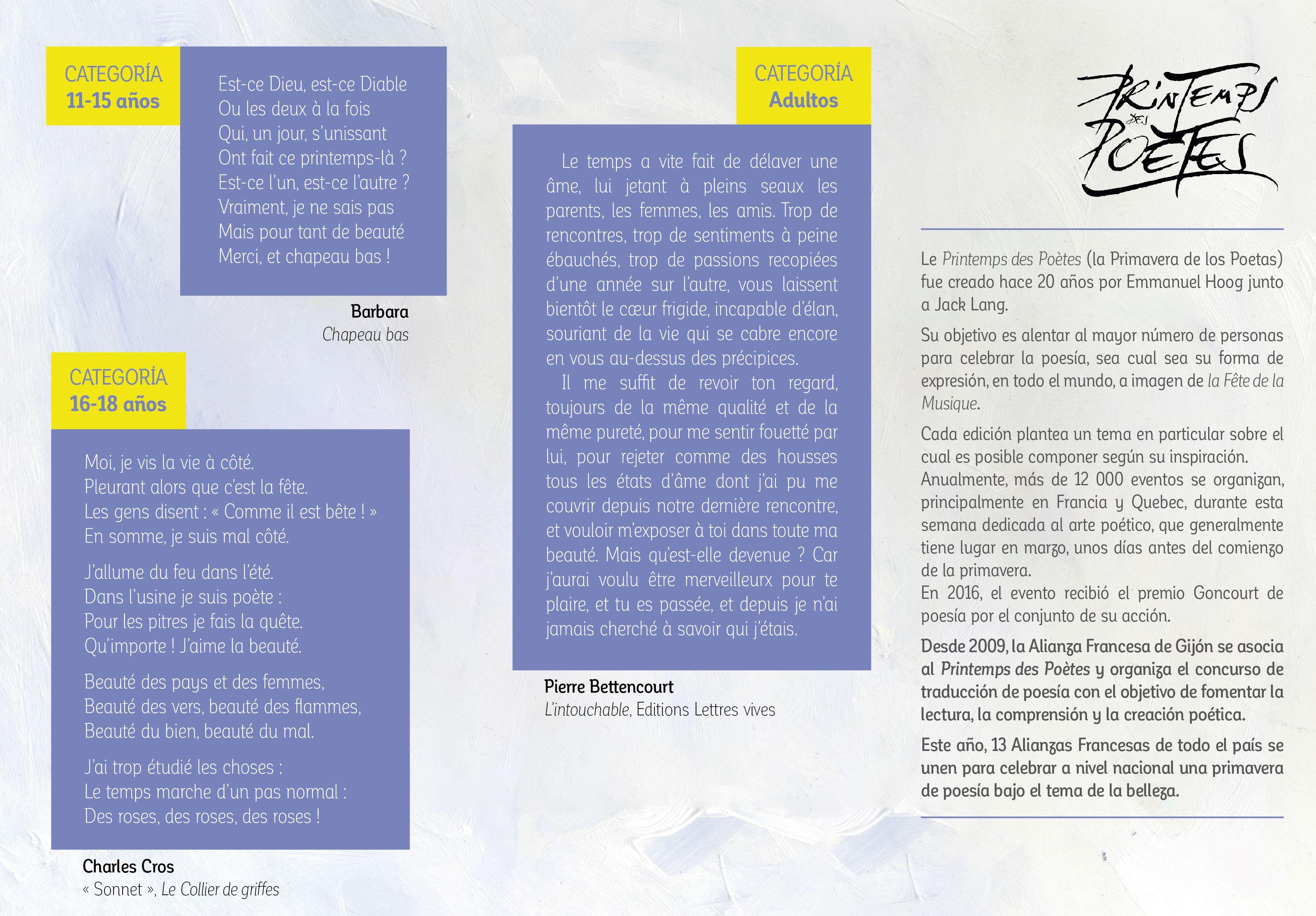 Concurso Nacional de Traducción de Poesía 2